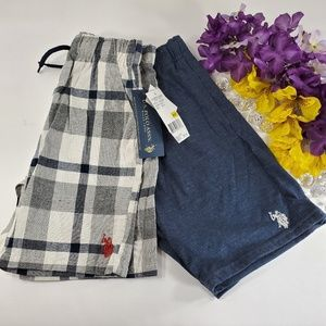 Polo Blue and Plaid Set of Shorts, New